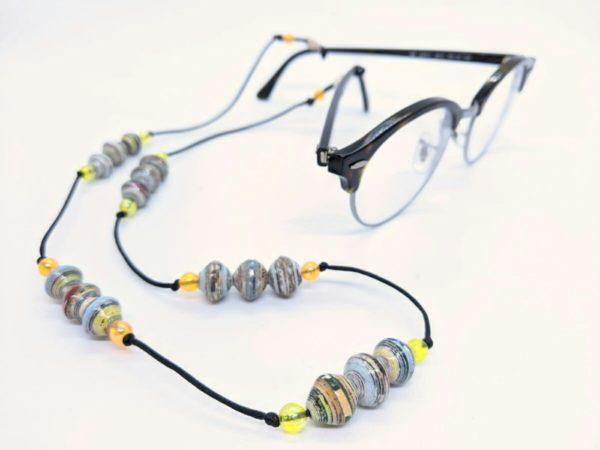 PEARLS OF AFRICA Brillenband Papierperlen Funky Touch